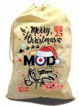 X-Large Cotton Drawcord Christmas Santa Sack And Merry Christmas MOD Target Old School Scooter Motif